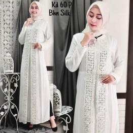 86def70275e Jual Baju Gamis Putih Busana Muslim Baju Muslim Wanita 65 Std