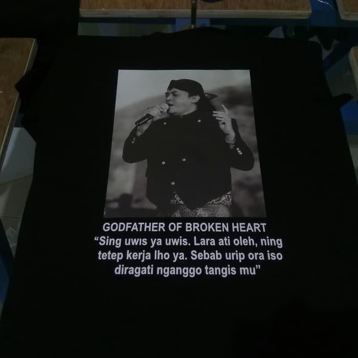 Jual Kaos Didi Kempot Godfather Sobat Ambyar Lirik Baju Tshirt