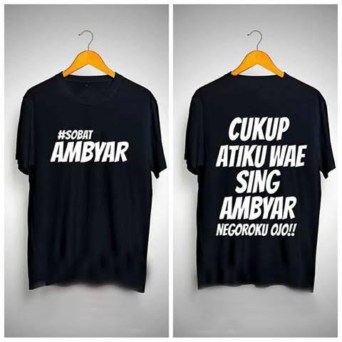 Jual Kaos Sobat Ambyar Didi Kempot Cukup Atiku Baju Tshirt Distro