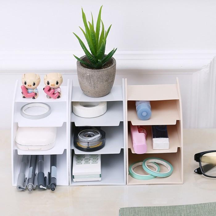 Jual Make Up Desk Organizer For Home Practical Multifunction Decorations Kota Palembang Saduri Tokopedia