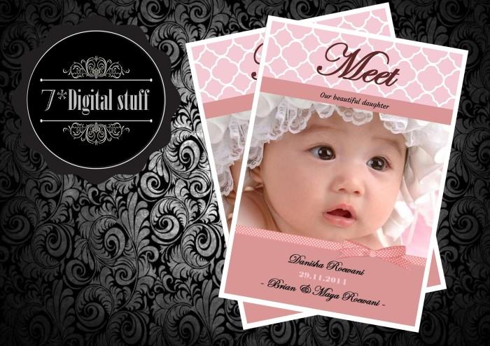 Jual Kartu Ucapan Baby Born Untuk Hampers Bingkisan Kelahiran Bayi