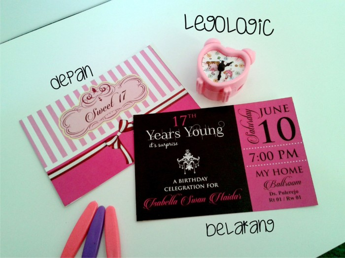 Jual Undangan Ulang Tahun Remaja Undangan Remaja Cowok Cewek
