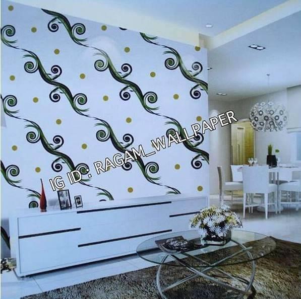 Jual Wallpaper Dinding Ruang Tamu Motif Minimalis Import Modern