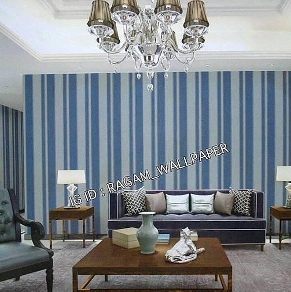 Jual Wallpaper Dinding Ruang Tamu Motif Garis Minimalis Modern Times