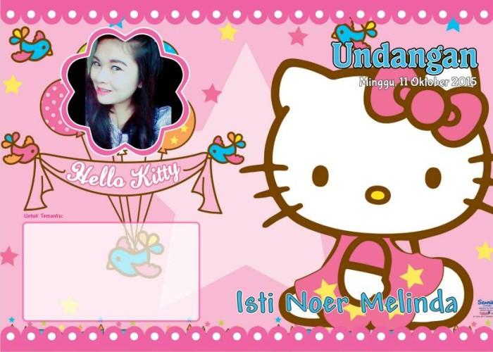 Jual Kartu Undangan Ulang Tahun Seri Hello Kitty Kab Bandung