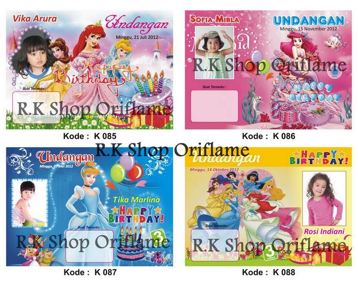 Jual Kartu Undangan Ulang Tahun Anak Kode 085 096 Dki Jakarta R K Shop Oriflame Tokopedia