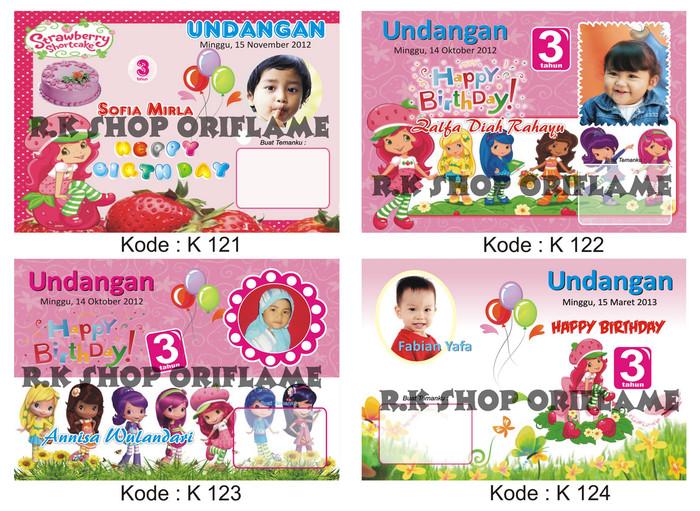 Jual Kartu Undangan Ulang Tahun Anak Kode 121 132 Kecil Dki