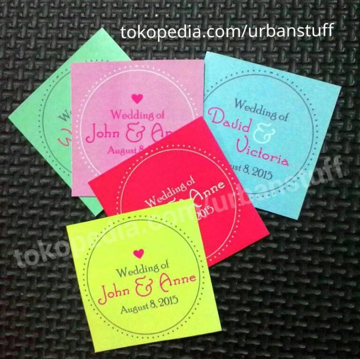 Jual Kartu Souvenir Pernikahan Ucapan Terima Kasih Thanks Card