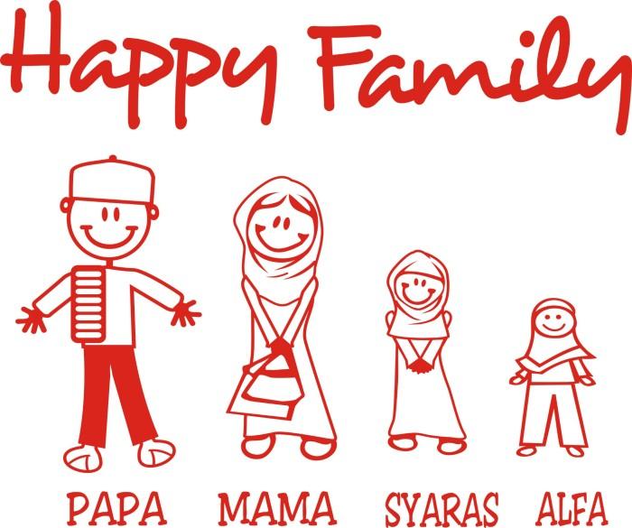 Jual Stiker Cutting Happy Family Kota Cirebon Buana Jaya Tokopedia