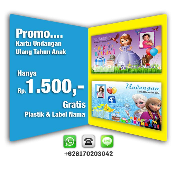 Jual Kartu Undangan Ulang Tahun Kab Bandung Aleka Photowork Tokopedia