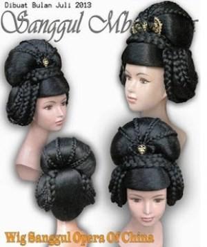 Jual Sanggul Wig Opera China Kode 65 Kota Semarang Model Sanggul