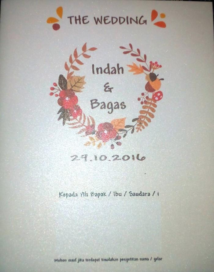 Jual Undangan Pernikahan Simple Elegan Kab Karawang Khiya