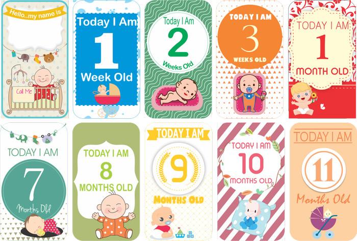 Jual Milestone Baby Card Kartu Selfie Bayi Kota Surakarta Batik