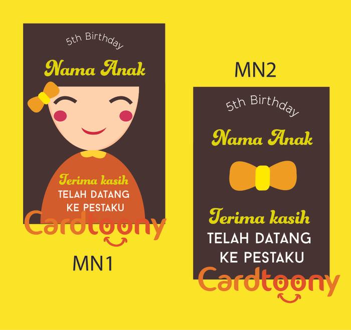 Jual Souvenir Kartu Ucapan Terima Kasih Thank You Card Ulang Tahun Anak Kota Surabaya Cardtoony Tokopedia