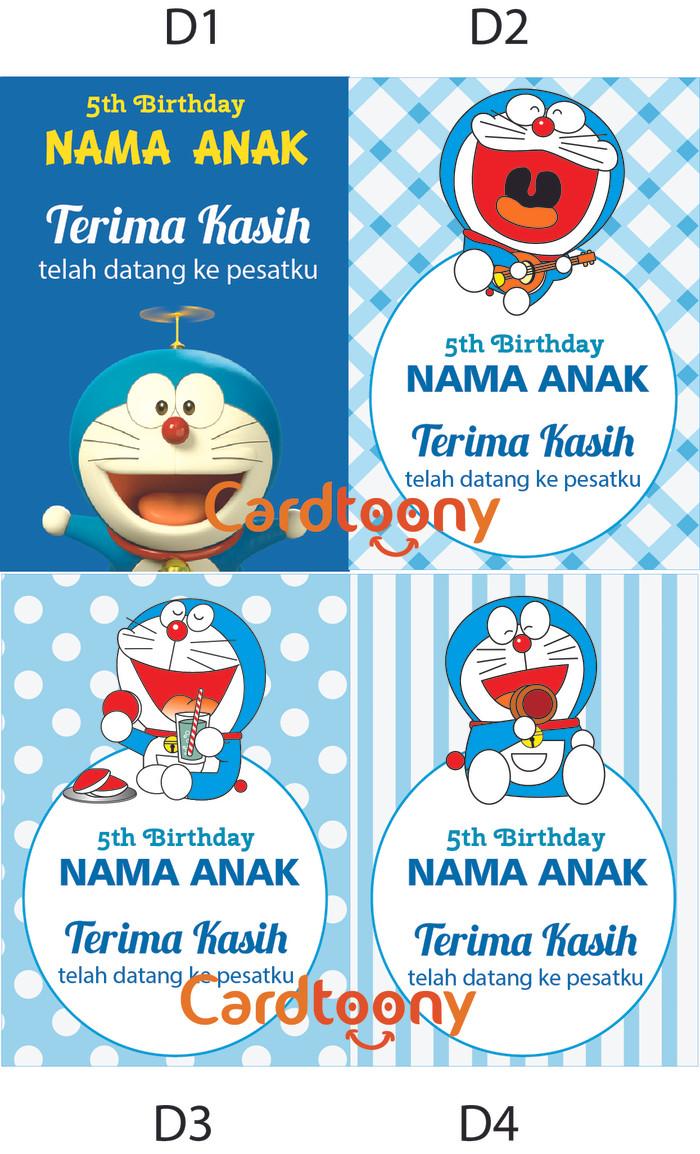 Jual Kartu Ucapan Terima Kasih Ulang Tahun Thank You Card Doraemon