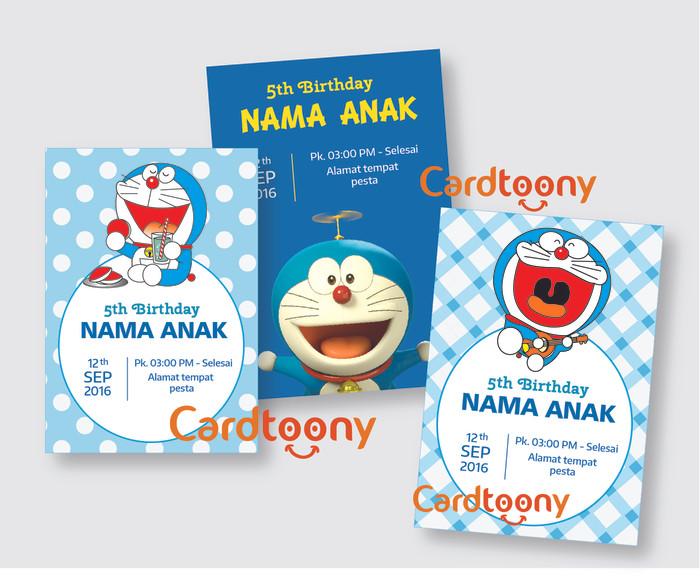 Jual Kartu Undangan Ulang Tahun Anak Lucu Birthday Invitation Doraemon Kota Surabaya Cardtoony Tokopedia