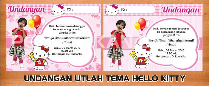 Jual Undangan Ultah Tema Hello Kitty Desain Bisa Request Kab