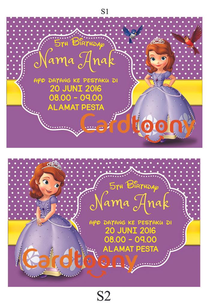 Jual Kartu Undangan Ulang Tahun Ultah Birthday Disney Sofia The