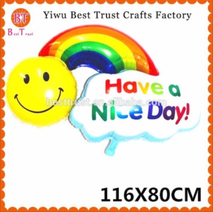 Jual Balon Foil Have A Nice Day Smile Rainbow Happy Birthday Murah Jakarta Barat Chowping Store Tokopedia