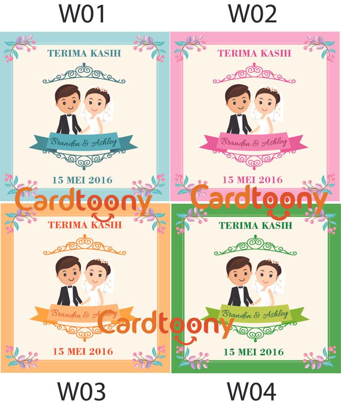 Jual Souvenir Kartu Ucapan Terima Kasih Wedding Pernikahan Lucu Kota Surabaya Cardtoony Tokopedia