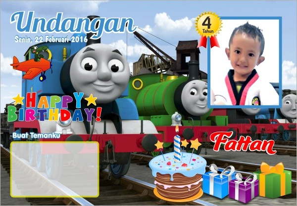 Jual Kartu Undangan Ulang Tahun Seri Thomas Friends Kab Bandung Aleka Photowork Tokopedia