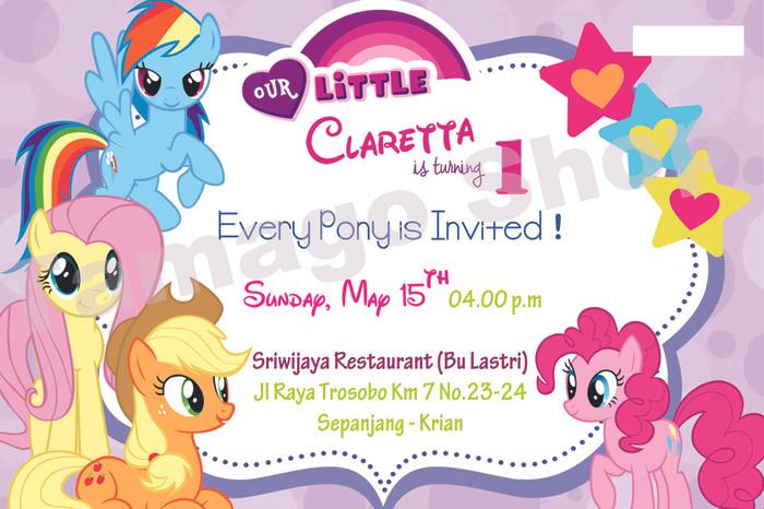Jual Invitation Undangan Ulang Tahun Little Pony Lp1 Kab
