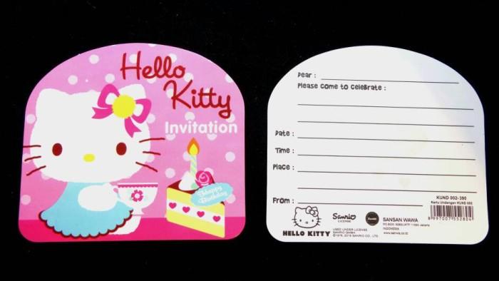Jual Kartu Undangan Ulang Tahun Hello Kitty Birthday Invitation Card Kota Makassar Shuga Tokopedia