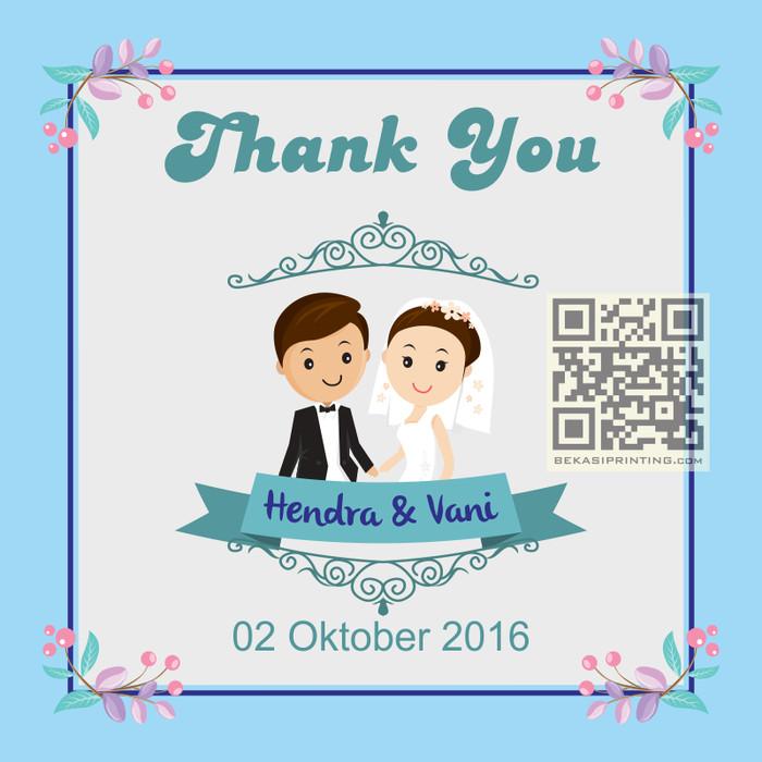 Jual 50 Kartu Ucapan Terima Kasih Souvenir Pernikahan Kota
