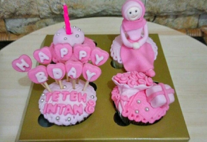 Jual Cupcake Birthday Hijab Bday Cake Kue Ulang Tahun Kota
