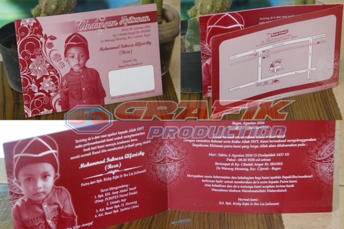 Jual Undangan Khitanan Soft Cover 1 Warna Grsc 33 Kab Bogor