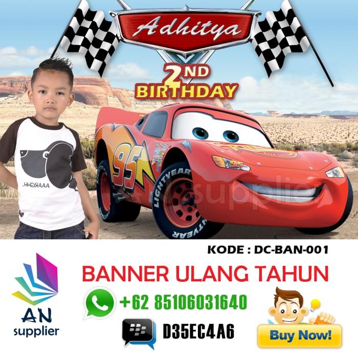 Jual Banner Backdrop Spanduk Ultah Ulang Tahun Anak Souvenir Tas