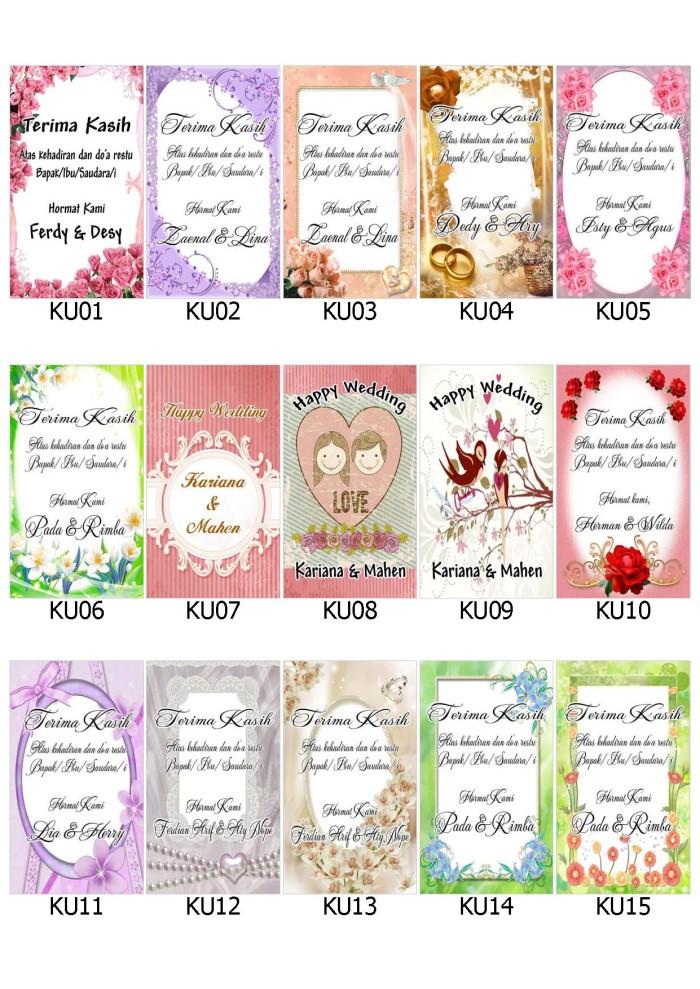 Jual Kartu Ucapan Terima Kasih Pernikahan Wedding Card Unik Pakai