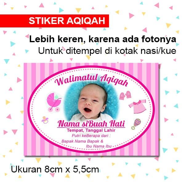 Jual Stiker Aqiqah Anak Label Nasi Kotak Aqiqahan Anak Putra Putri