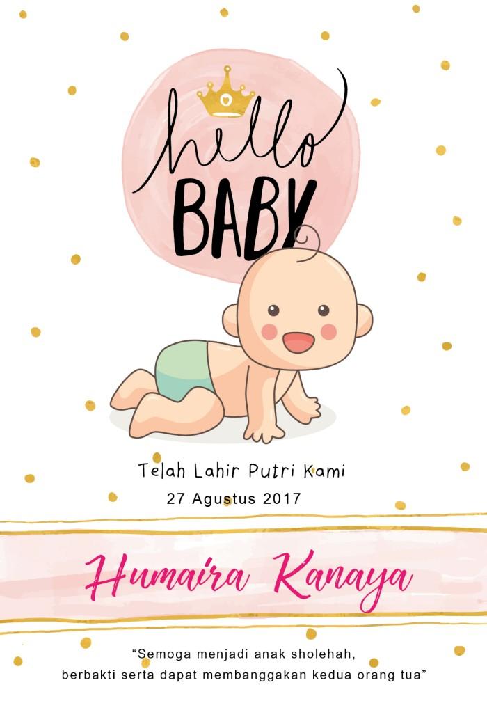 Jual Baby Card Kartu Ucapan Aqiqah Baby Shower Undangan Kab