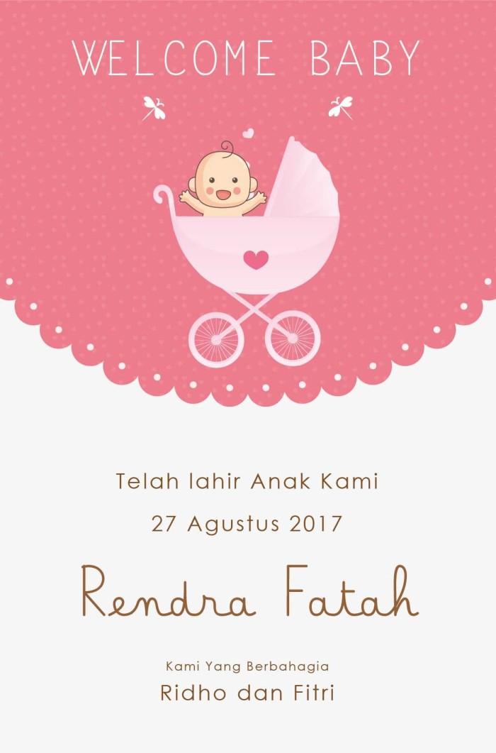 Jual Baby Card Kartu Ucapan Kelahiran Bayi Baby Shower Kab