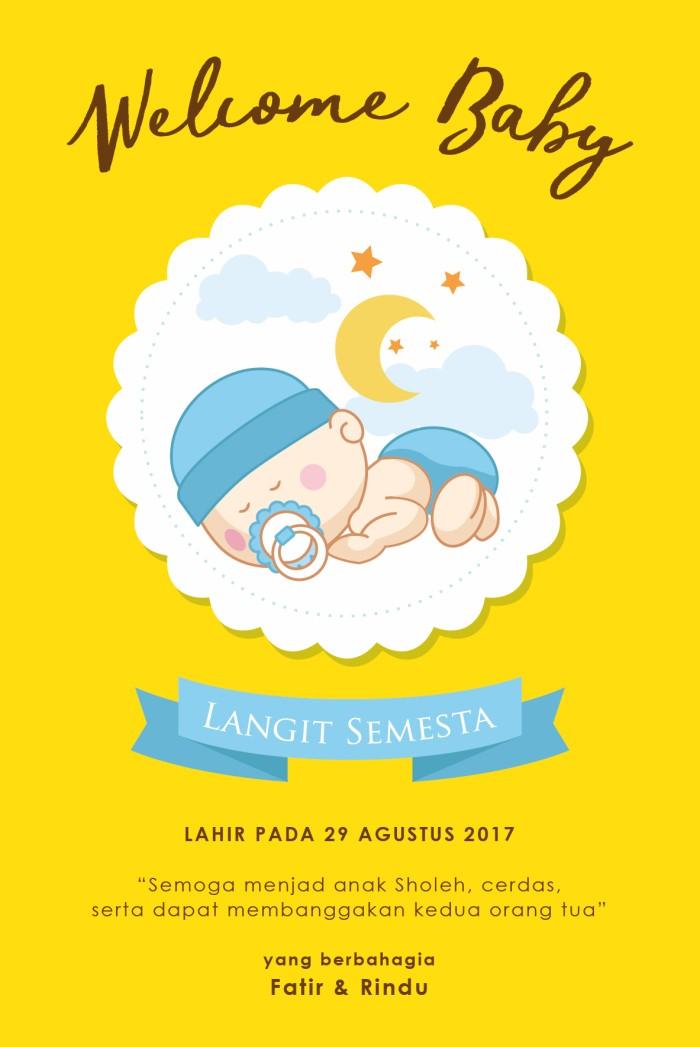Jual Baby Card Kartu Ucapan Kelahiran Bayi Baby Shower Kab Magelang Ranting Kecil Studio Tokopedia