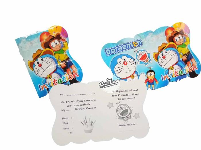 Jual Kartu Undangan Ulang Tahun Doraemon Pesta Ultah Invitation