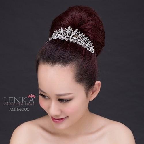 Jual Murah Aksesoris Mahkota Sanggul Rambut Wedding Wanita L Lenka