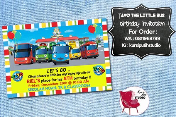 Jual Undangan Ulang Tahun Birthday Invitation Tema Tayo Dki