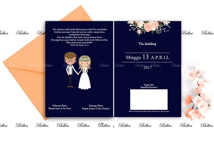 Jual Surat Undangan Pernikahan Soft Cover Wedding Invitation Full