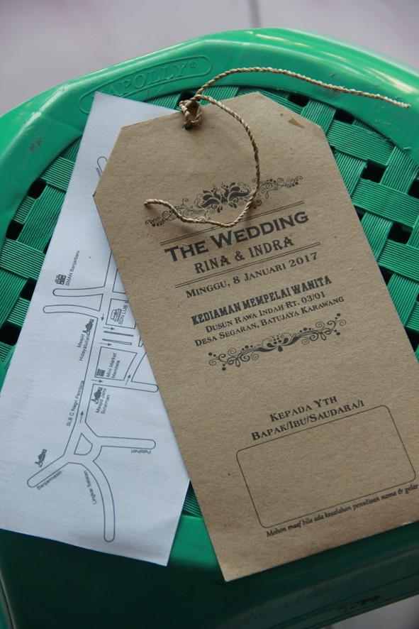 Jual Undangan Pernikahan Unik Murah Model Paper Price Kab Bogor