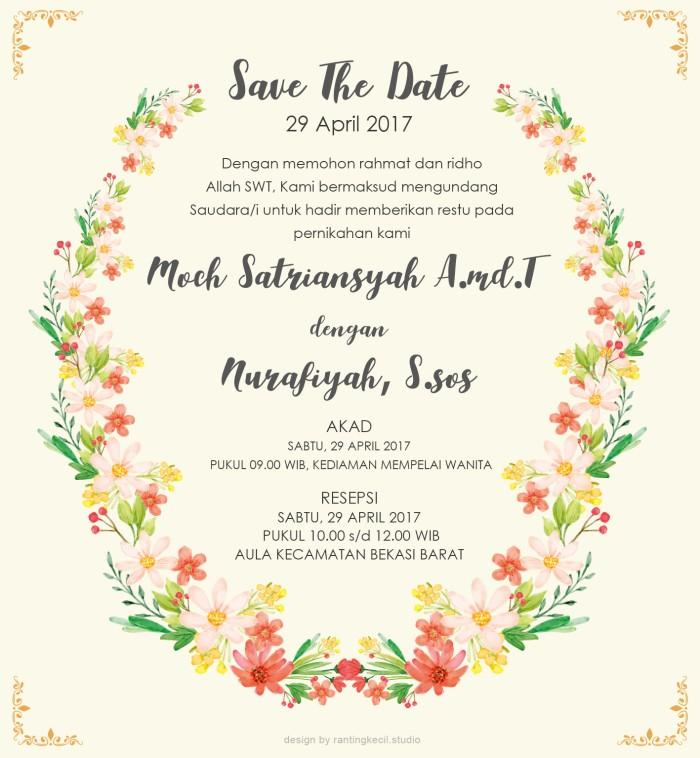 Jual Undangan Online Template Design Pernikahan Flowersring