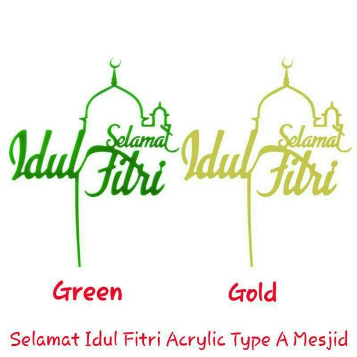 Jual Selamat Idul Fitri Acrylic Hiasan Parcel Lebaran Kota
