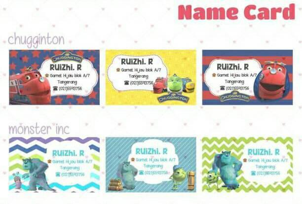 Jual Kartu Nama Anak Kartu Ucapan Jakarta Barat Akha Shop 2
