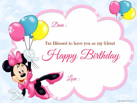 Jual Kartu Ucapan Selamat Ulang Tahun Minnie Baloon 2 Kota