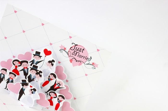 Jual Kartu Ucapan Nikah Valentine Couple Pasangan Pop Up Card Kota