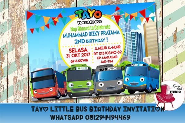 Jual Undangan Ulang Tahun Tema Tayo The Little Bus Dki Jakarta