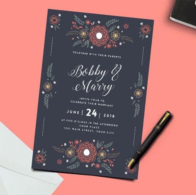 Jual Jasa Desain Undangan Pernikahan Custom Rustic Banyak Bonus