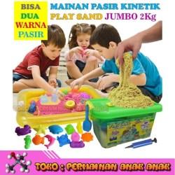 Jual Pasir Kinetik Jumbo 2kg Play Magic Sand Pasir Ajaib Game Mainan