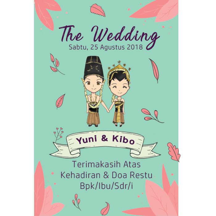 Jual Kartu Ucapan Souvenir Pernikahan Undangan Nikah Adat Jawa